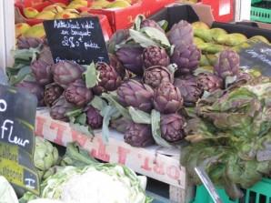 Violet artichokes