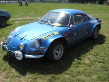 Alpine A110 in traditonal blue