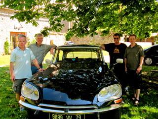 Citroen DS23ie classic citroen in Vanzay courtyard Poitou Charente