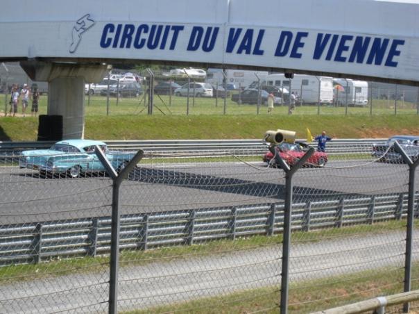 Classic cars at race Circuit Val de Vienne Poitou Charente, France