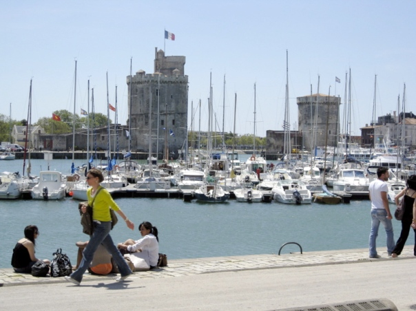 La Rochelle Vieux Port Charente Maritime Classic Car Hire family gite holidays swimming pool