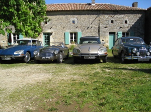 Classic car holidays Citroen DS Jaguar Austin Healy