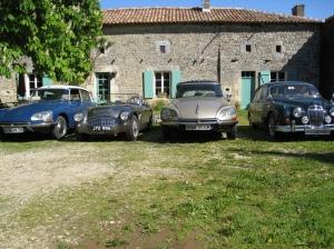 Classic car holidays Citroen DS Jaguar Austin Healy