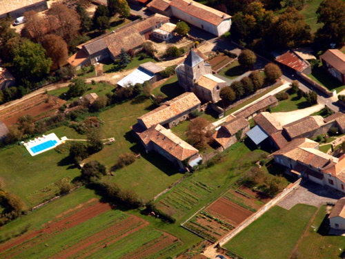 Gites in Charente aerial view, France pleasure flight