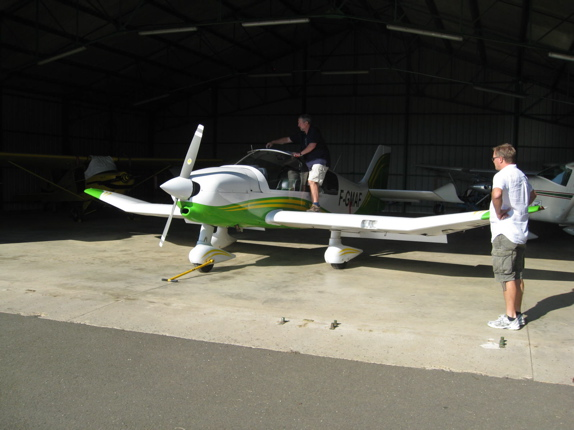 Trial flights in southwest France