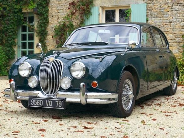 Jaguar MK2 classic car hire, France