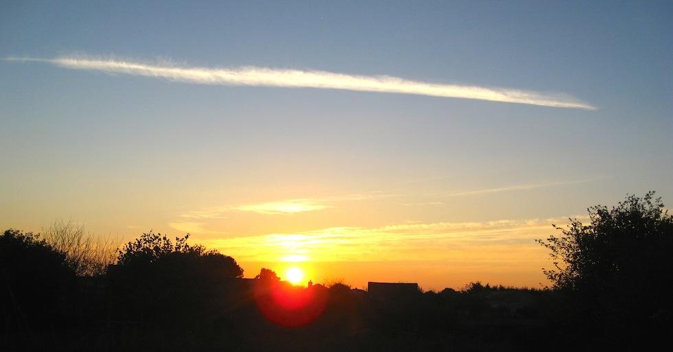 Autumn sunset gite in France