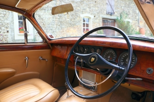 Classic Jaguar wedding car hire in France