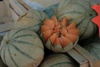 Sweet charentais melon